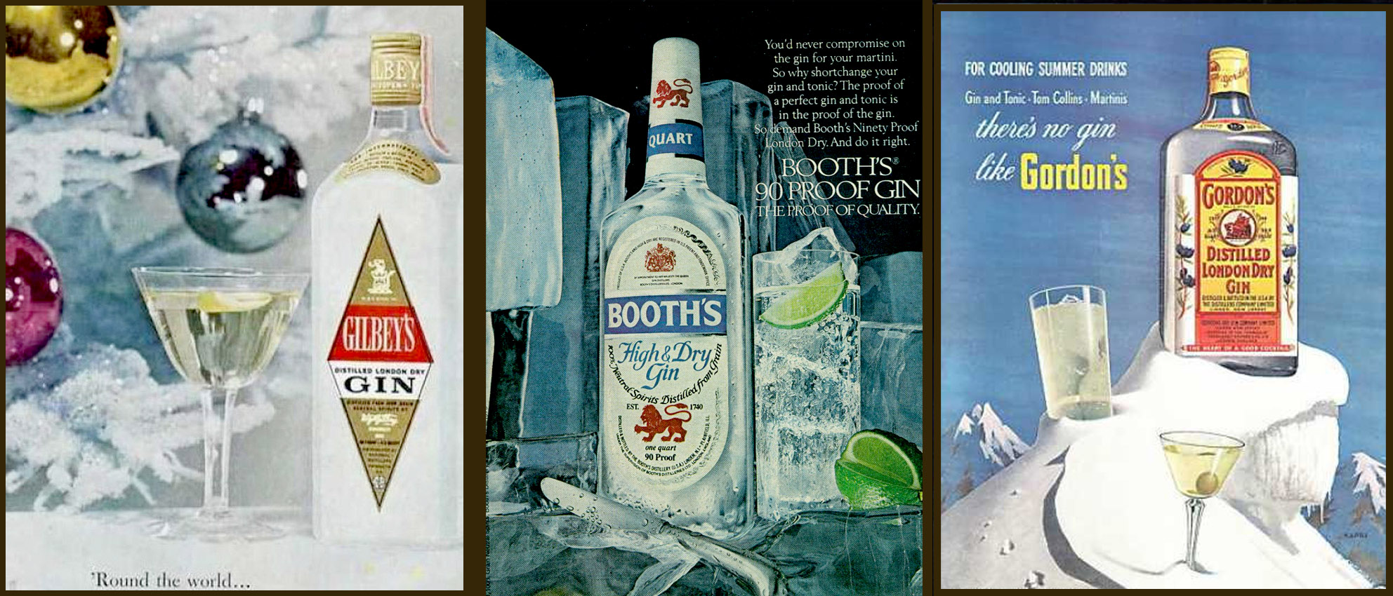 Vintage spirit cocktails, exclusive to The London Gin Club
