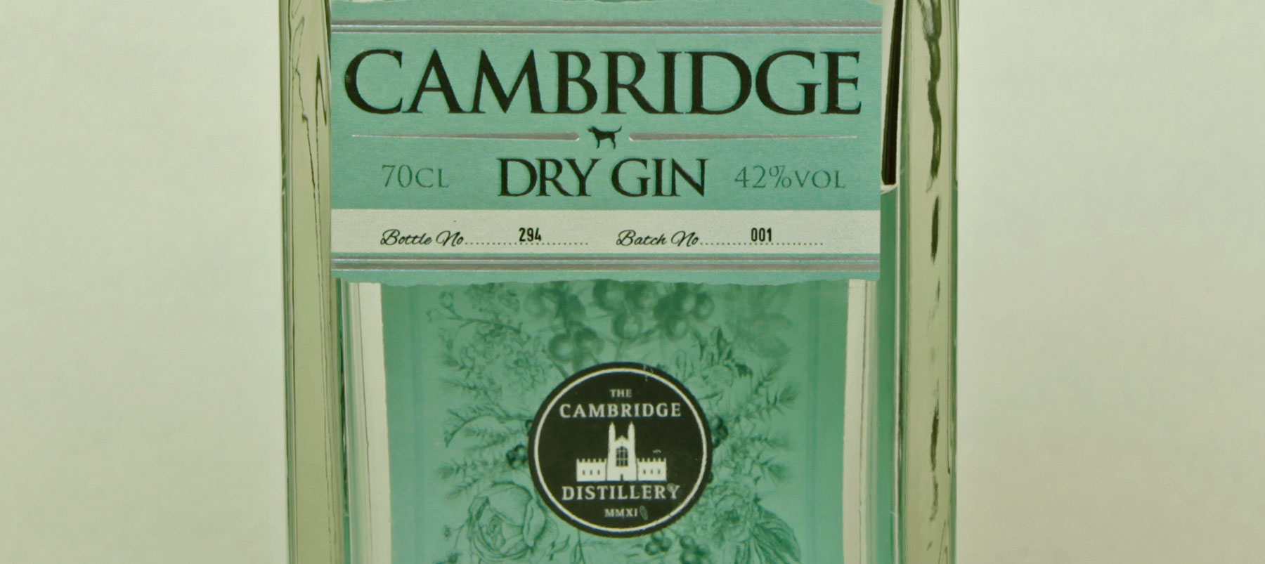 Gin Review: Cambridge Dry gin 42% ABV